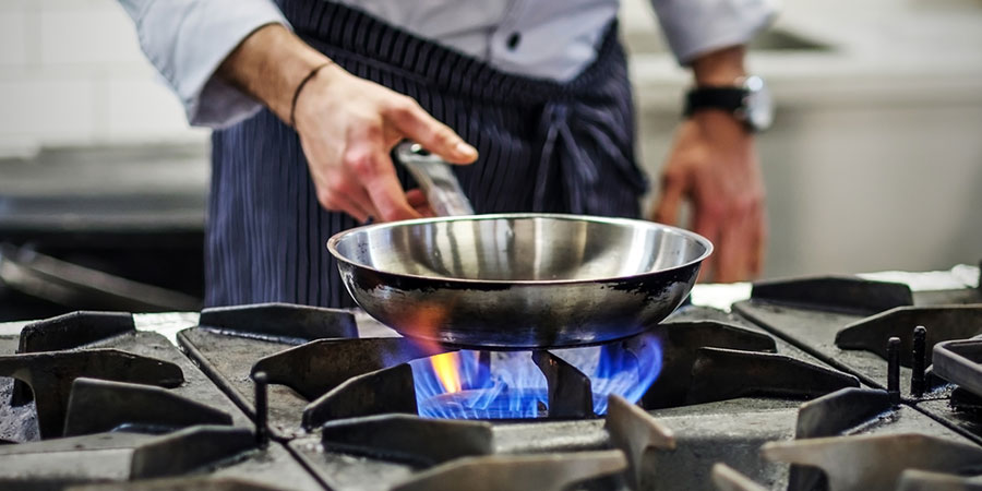 Cooking on gas in a restaurant