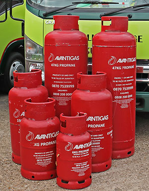 Avanti bottled gas